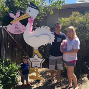 Stork Lawn Sign is great for photos for family