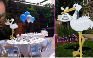 Rent a Baby Shower Stork